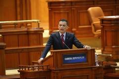 Voto da nenhum-confiança do PM Sorin Grindeanu Foto de Stock