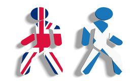 Voto de Escócia para a independência Imagem de Stock Royalty Free
