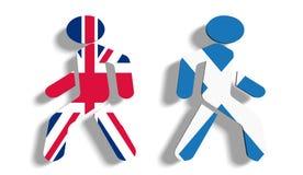 Voto de Escocia para la independencia Imagen de archivo libre de regalías
