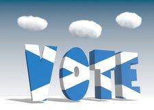Voto de Escocia para la independencia Imagenes de archivo