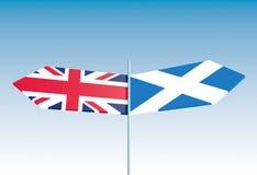 Voto de Escocia para la independencia Fotos de archivo libres de regalías