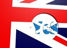 Voto de Escocia para la independencia Imágenes de archivo libres de regalías