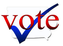 Voto de Iowa Imágenes de archivo libres de regalías