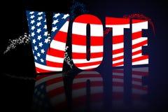 Voto de la campaña del día de elección Imagen de archivo libre de regalías