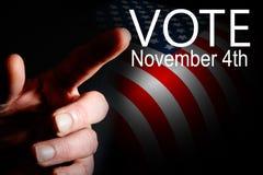 Voto de la campaña del día de elección Fotografía de archivo libre de regalías