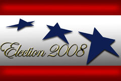 Voto de la campaña de la bandera del día de elección Fotos de archivo libres de regalías