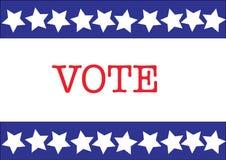 Voto de la elección de los E.E.U.U. Fotos de archivo
