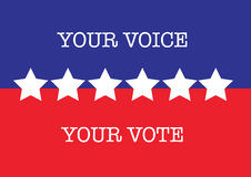 Voto de la elección de los E.E.U.U. Fotografía de archivo libre de regalías