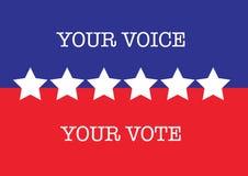 Voto de la elección de los E.E.U.U. Fotos de archivo libres de regalías