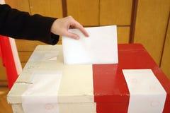 Voto de la elección local Imagen de archivo libre de regalías