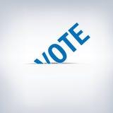 Voto de la elección presidencial Imagen de archivo libre de regalías