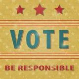 Voto de la elección presidencial Foto de archivo libre de regalías