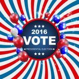 Voto 2016 de la elección presidencial en fondo de los E.E.U.U. Puede ser a usada Foto de archivo