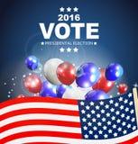 Voto 2016 de la elección presidencial en fondo de los E.E.U.U. Puede ser a usada Imagenes de archivo