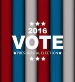Voto 2016 de la elección presidencial en fondo de los E.E.U.U. Puede ser a usada Imagen de archivo libre de regalías