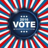 Voto 2016 de la elección presidencial en fondo de los E.E.U.U. Puede ser a usada Imagen de archivo