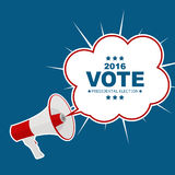 Voto 2016 de la elección presidencial en fondo de los E.E.U.U. Puede ser a usada Fotografía de archivo libre de regalías