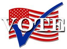 Voto de los E.E.U.U. Fotos de archivo libres de regalías