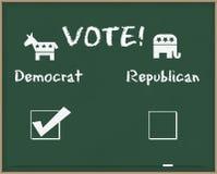 Voto Democrat con i simboli di elezione Immagini Stock Libere da Diritti