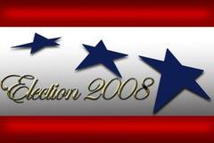 Voto di campagna della bandiera di giorno di elezione Fotografie Stock Libere da Diritti