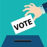 Voto di voto con la scatola Illustrazione di vettore Fotografia Stock Libera da Diritti