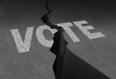 Voto dividido Imagen de archivo libre de regalías