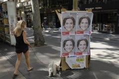 VOTO DO CONSELHO DE BARCELONA Fotos de Stock Royalty Free