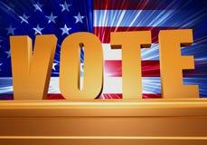 Voto dourado no suporte Foto de Stock Royalty Free