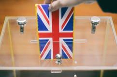 Voto, elezioni nel Regno Unito fotografia stock