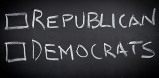 Voto en la elección americana Fotos de archivo