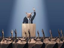 Voto en la reunión del cerdo Foto de archivo libre de regalías