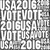 Voto EUA 2016 Foto de Stock