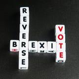 Voto inverso di Brexit Fotografia Stock