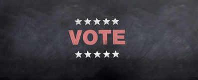 Voto los E.E.U.U. Foto de archivo