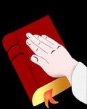 Voto nas Bíblias ilustração do vetor