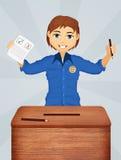 Voto nas eleições ilustração do vetor