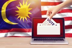 Voto online, scrutinio, exit poll per l'elezione generale della Malesia immagini stock libere da diritti