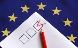 Voto para Europa foto de stock