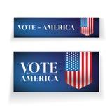 Voto para la bandera o el cartel de América Imágenes de archivo libres de regalías