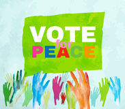 Voto para la paz Fotos de archivo