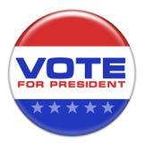 Voto per presidente Fotografie Stock