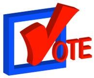 Voto político encorajador Foto de Stock