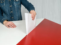 Voto polacco di elezione Fotografia Stock