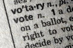 Voto rappresentato nel dizionario Fotografia Stock Libera da Diritti