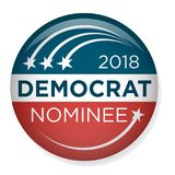 Voto retro ou eleição Pin Button ou crachá ilustração stock