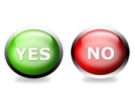 Voto sì o no! Fotografia Stock Libera da Diritti