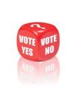 Voto sí ningún Foto de archivo libre de regalías