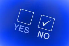 Voto sí o no Foto de archivo