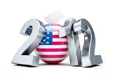 Voto S.U.A. 2012 illustrazione vettoriale