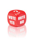 Voto sim nenhum Foto de Stock Royalty Free